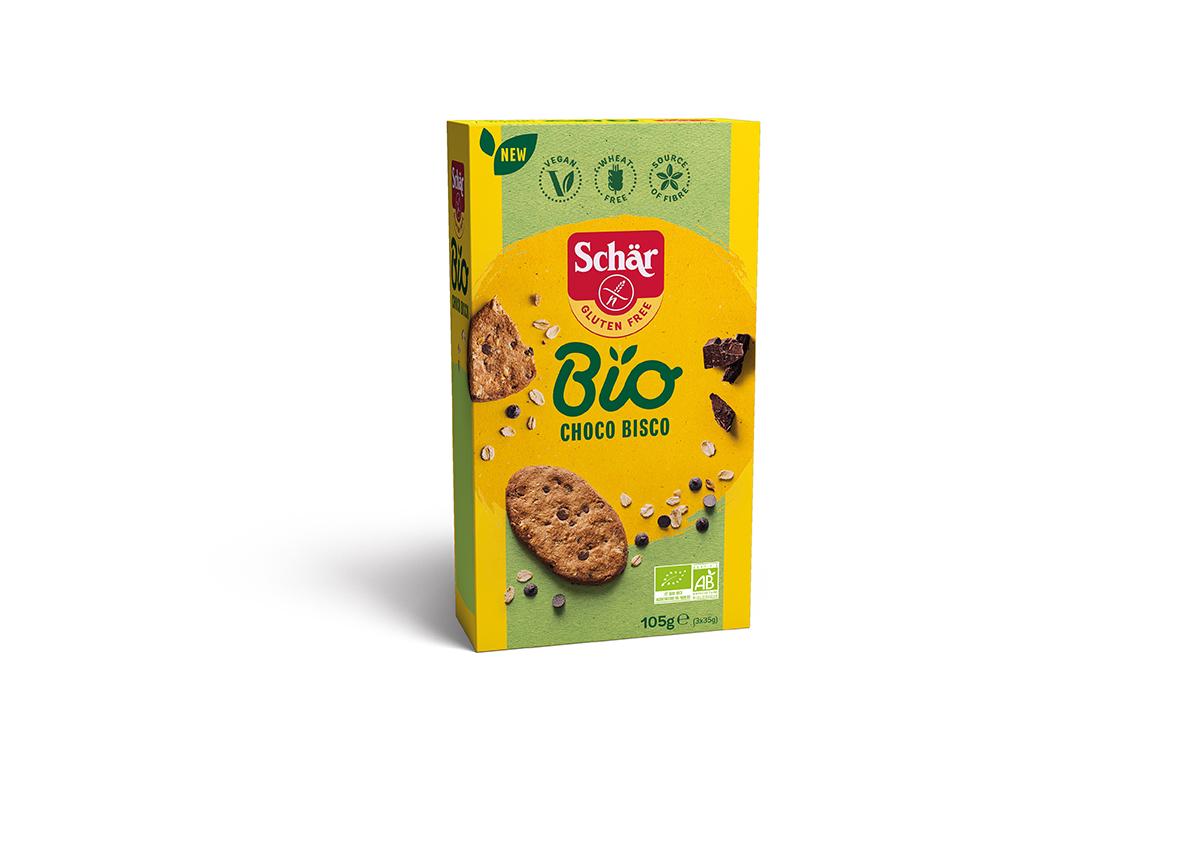 Bio Brezglutenski bio piškoti s čokolado – Choco Bisco