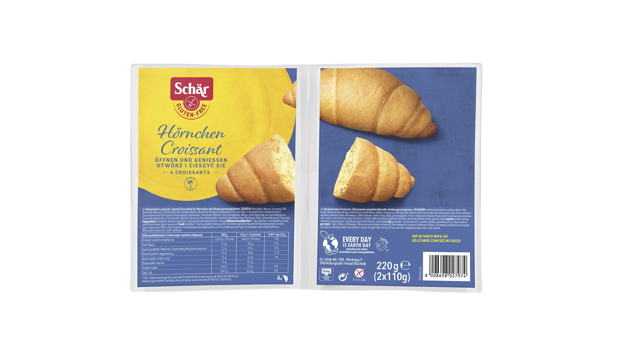 Brezglutenski francoski rogljički – Croissant