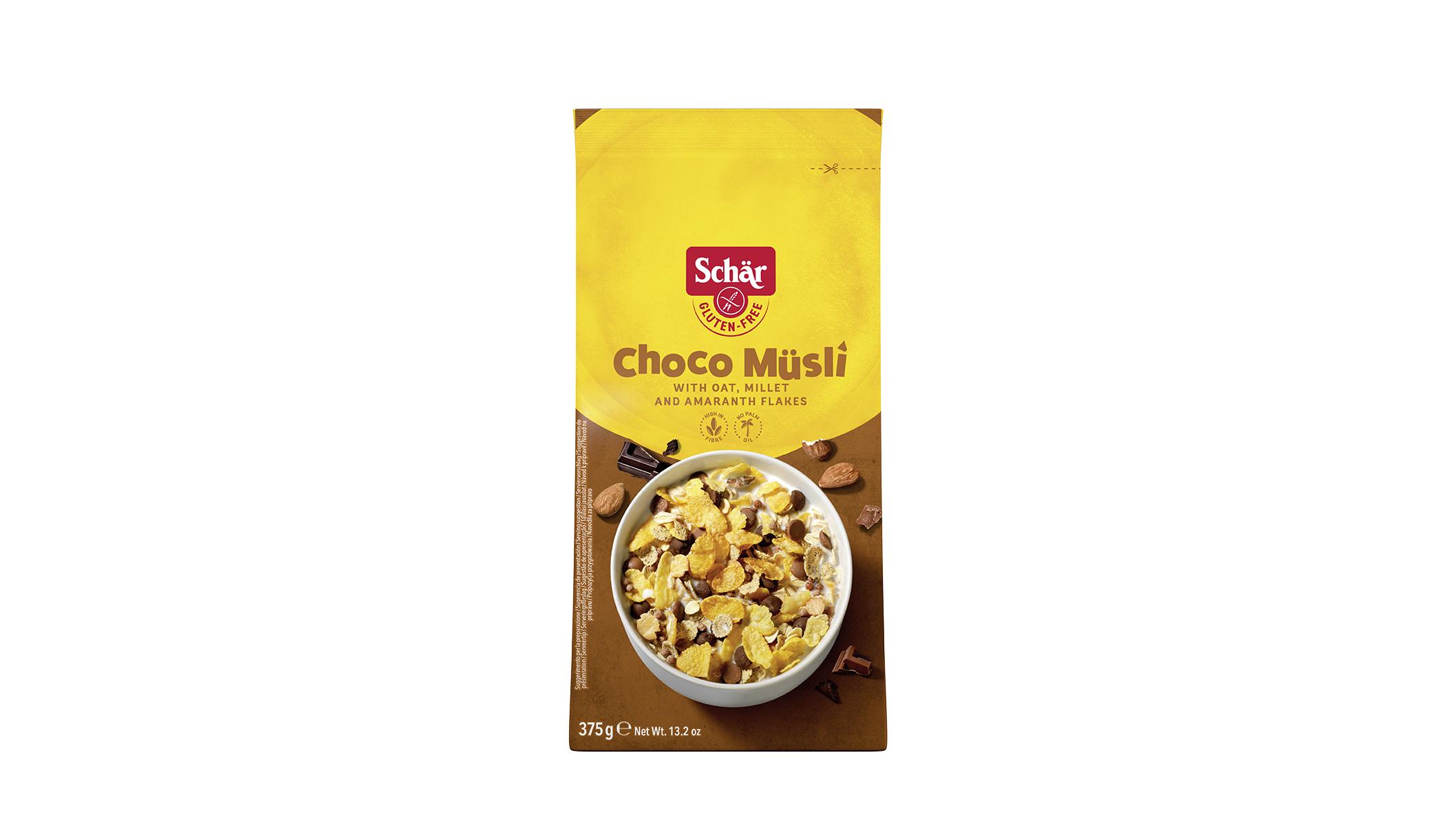 Brezglutenski kosmiči s čokolado – Choco Müsli