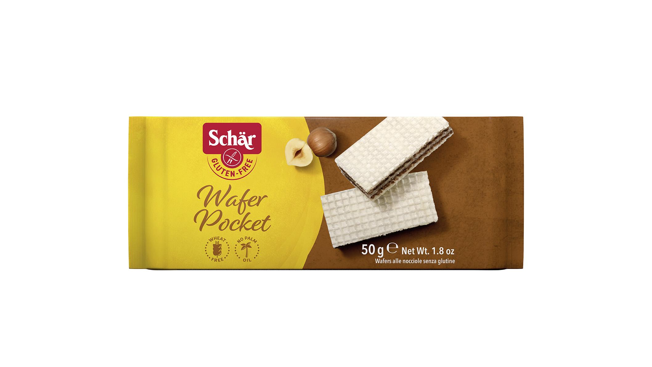 Brezglutenske mini napolitanke z lešniki – Wafer Pocket