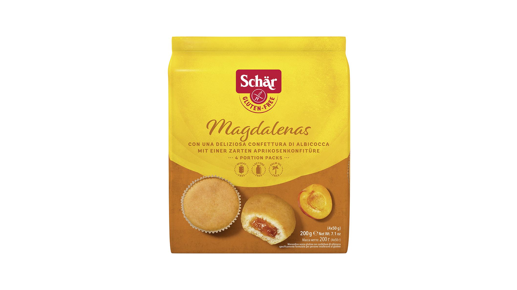 Brezglutenski biskvit z mareličnim polnilom – Magdalenas