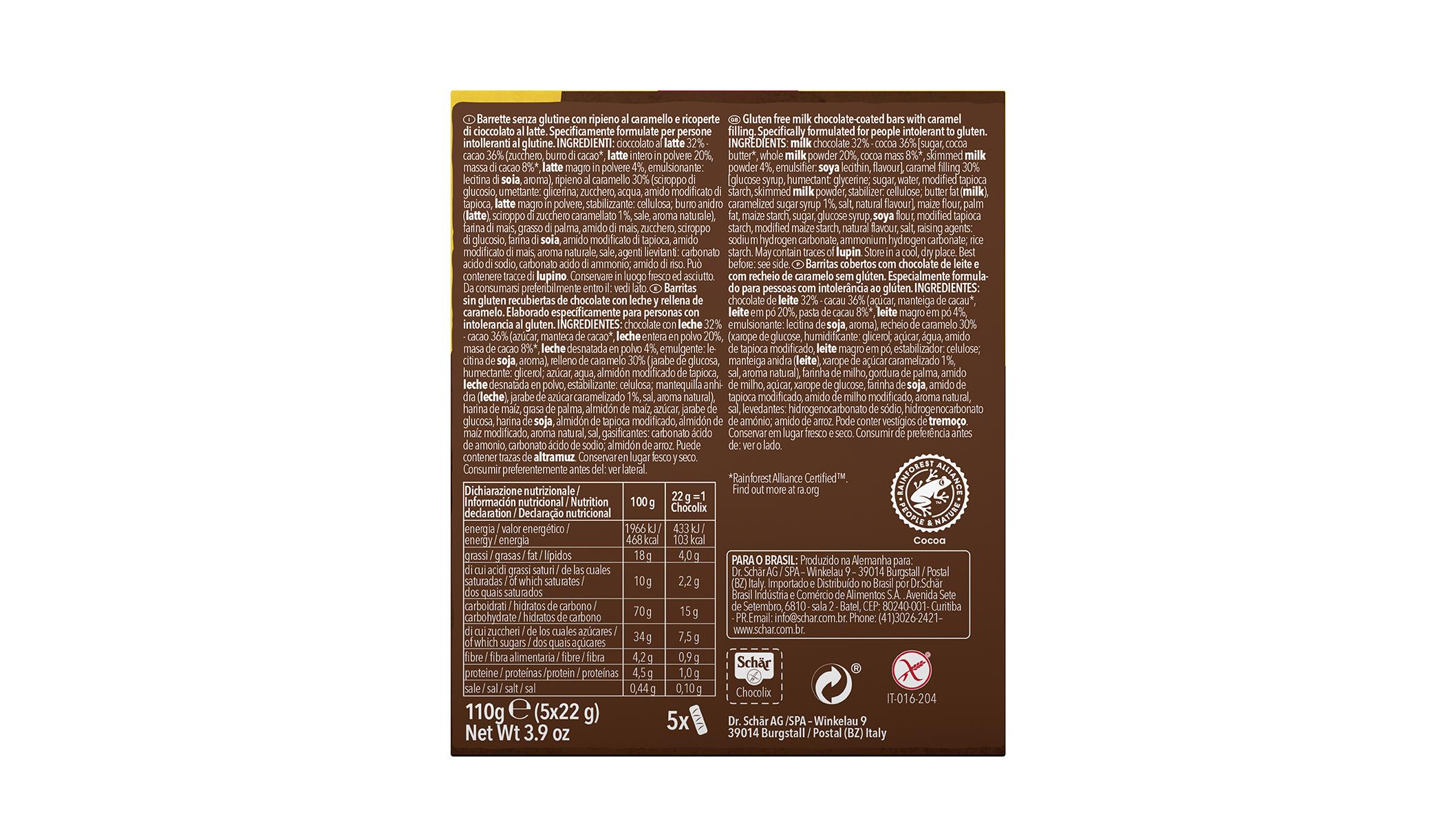 Brezglutenska čokoladica – Chocolix