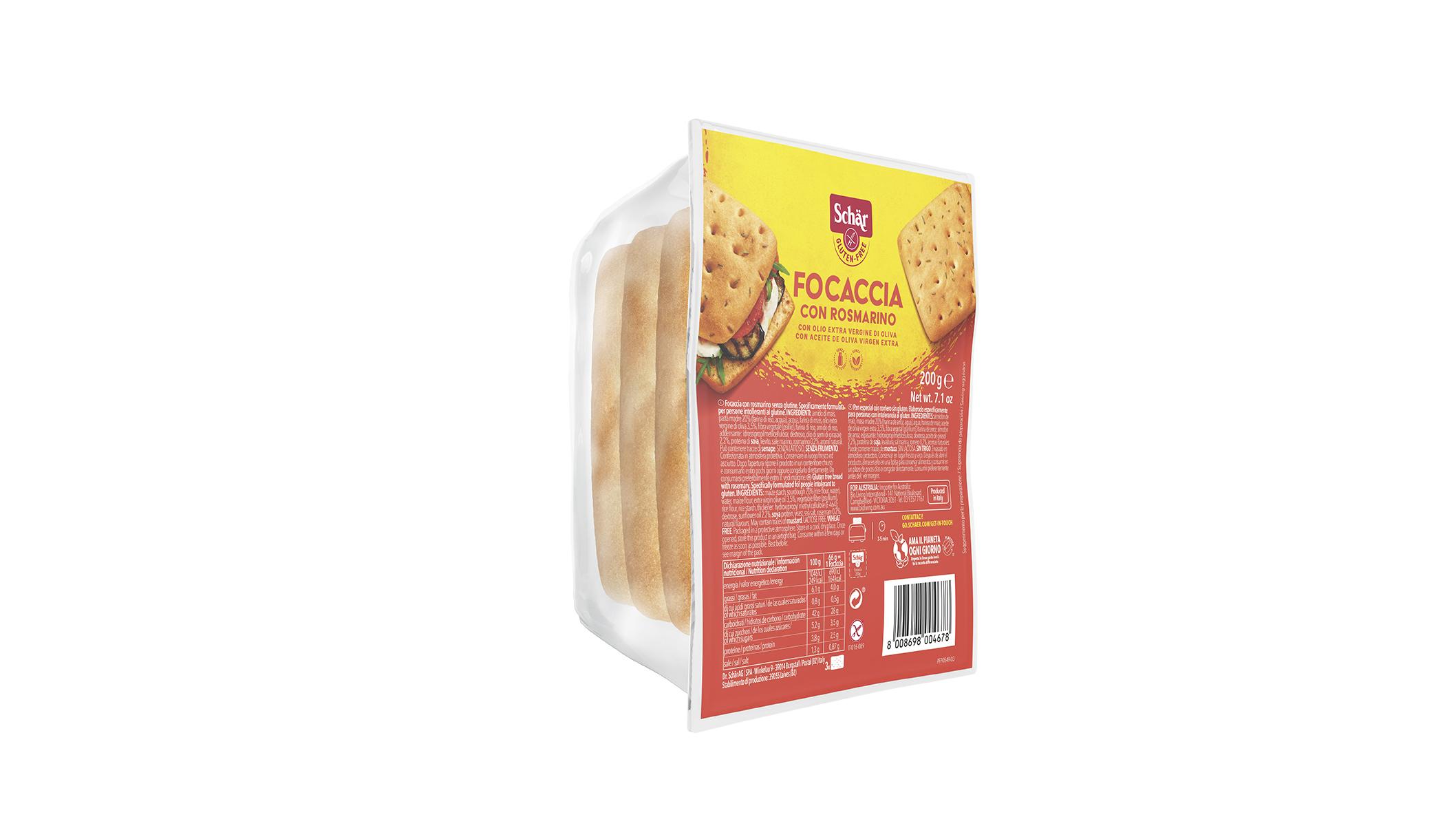 Brezglutenska fokača z rožmarinom – Focaccia con rosmarino