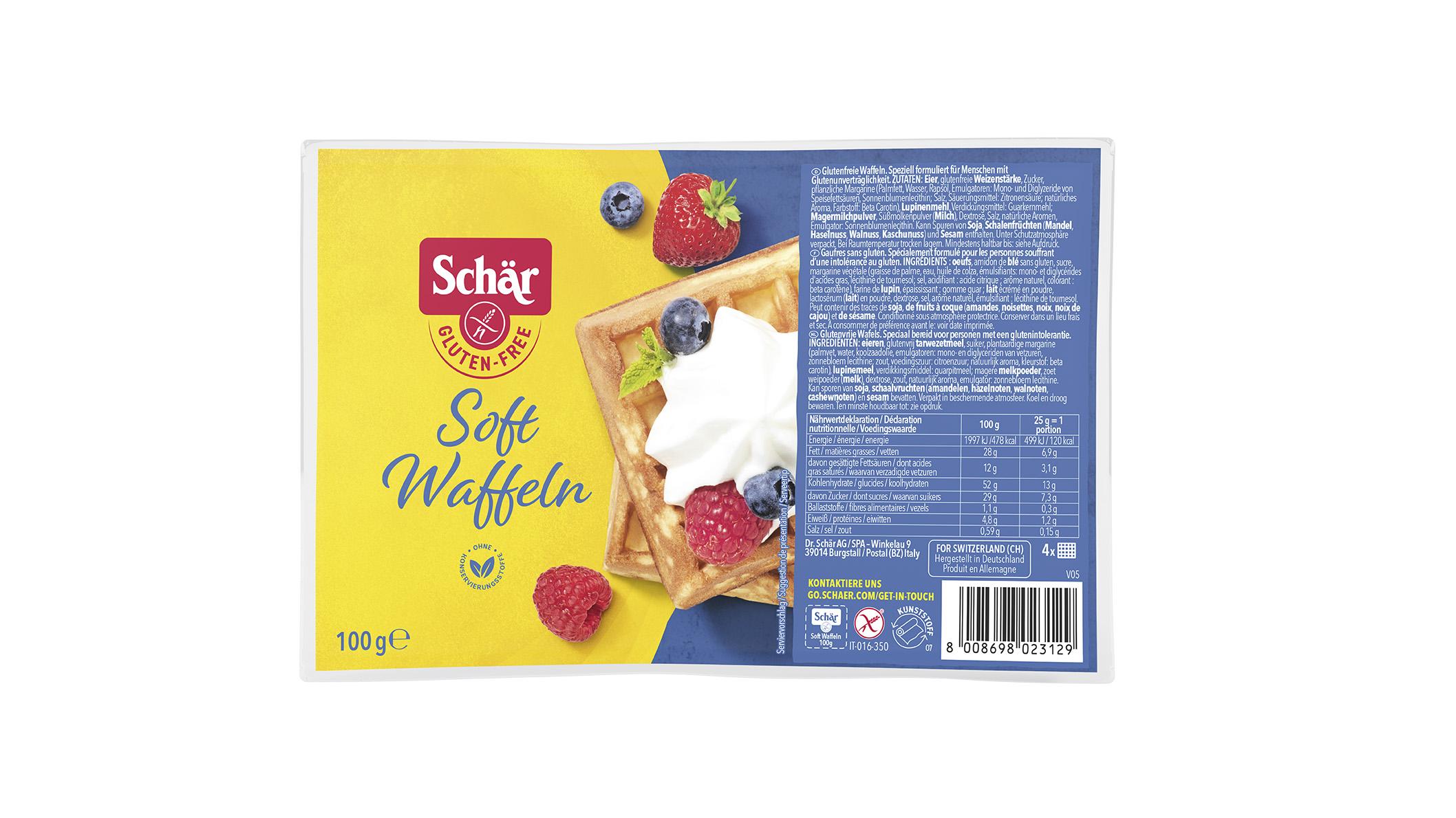 Brezglutenski sladki vaflji - Soft waffeln 100g