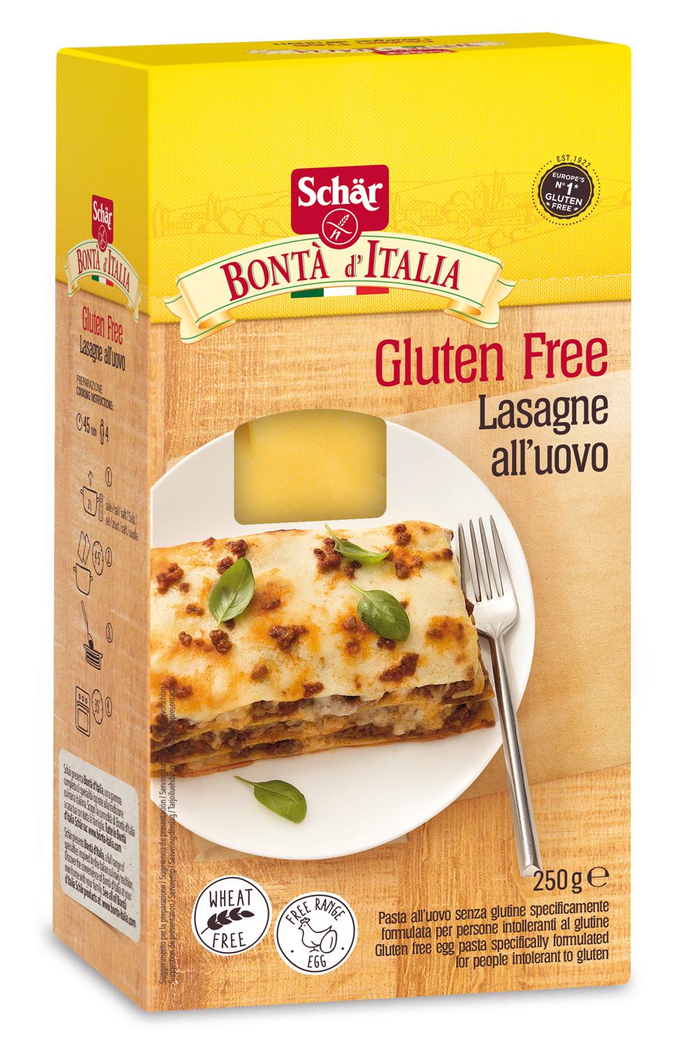 Brezglutenski listi za lazanjo - Lasagne
