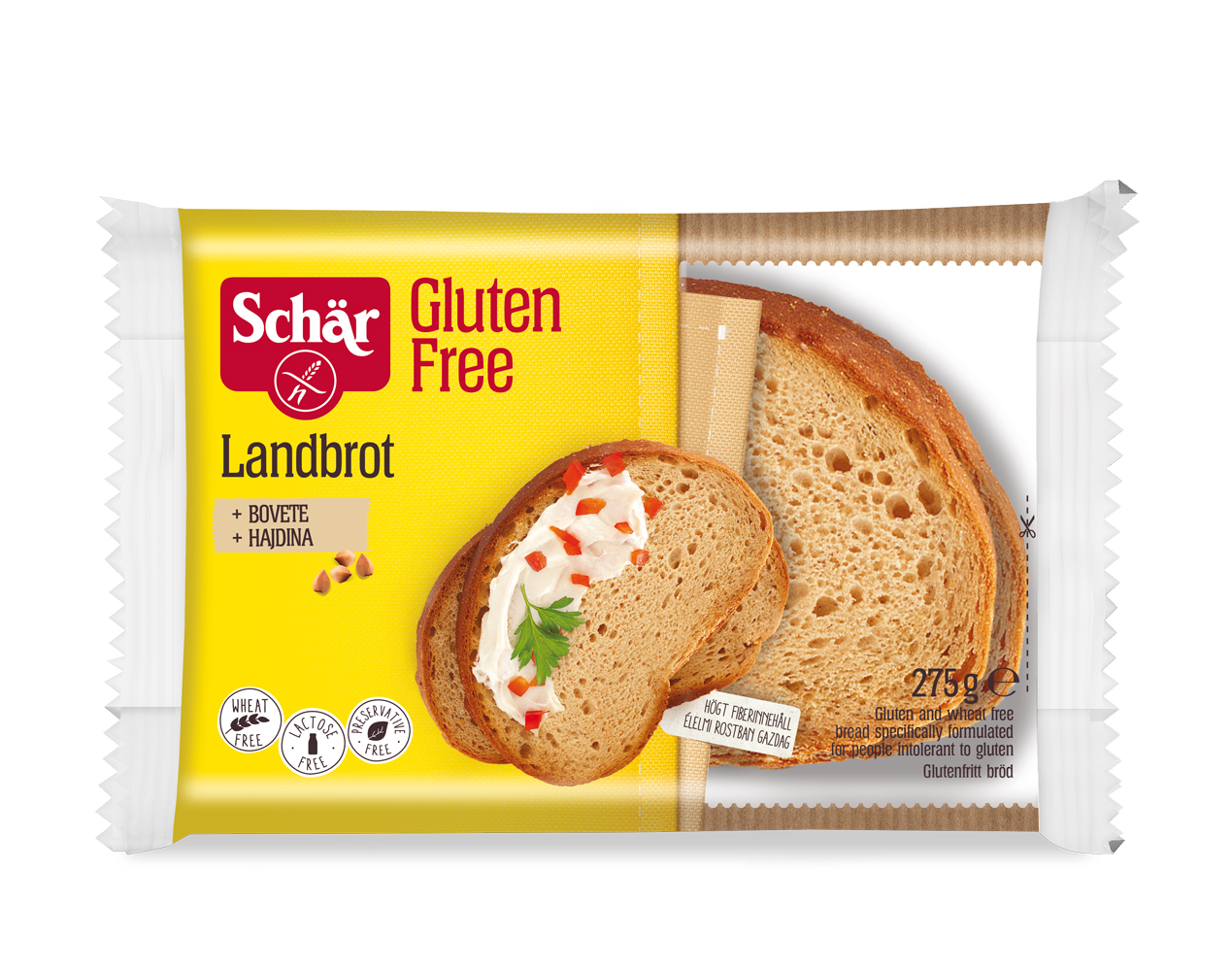 Brezglutenski domači kruh – Landbrot