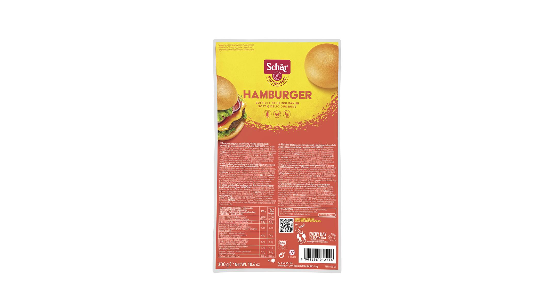 Brezglutenske burger štručke – Hamburger