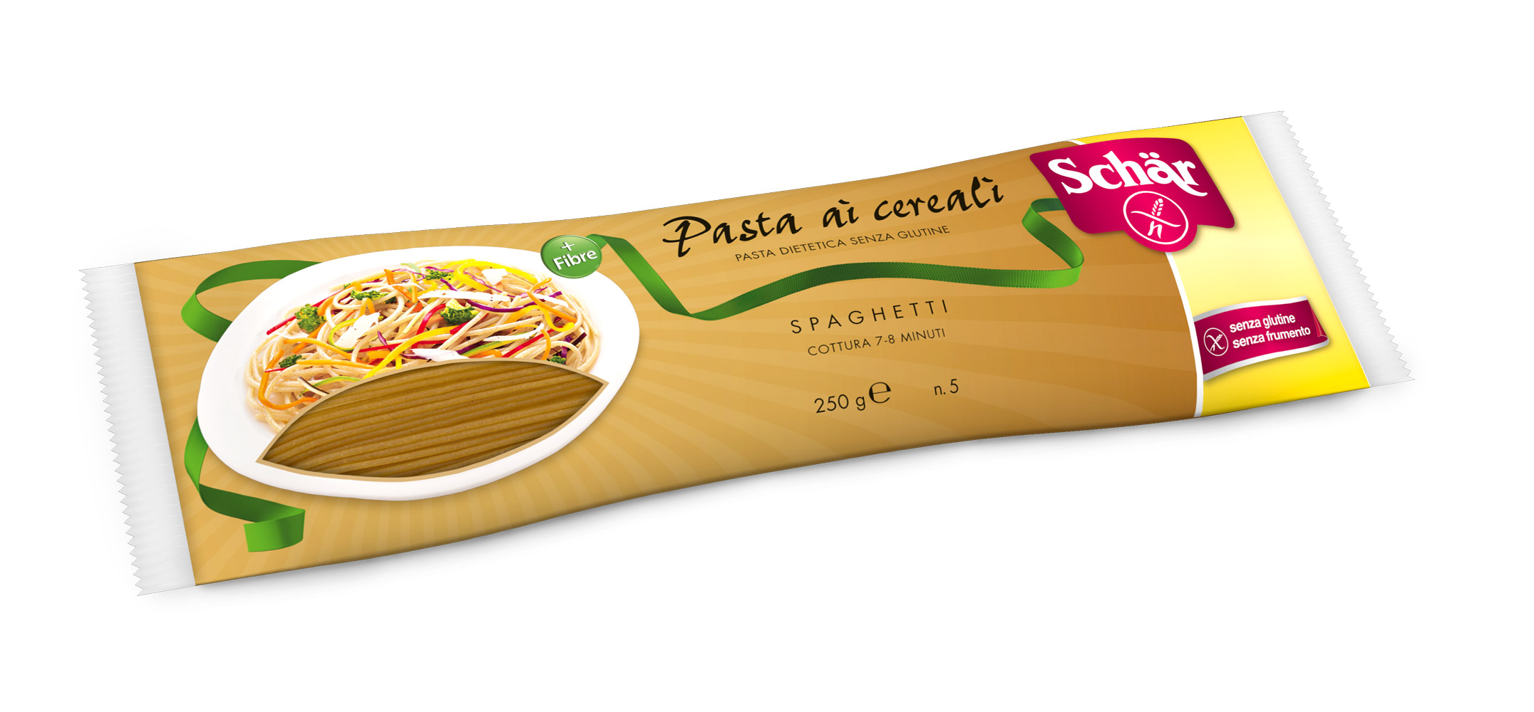 Brezglutenski polnozrnati špageti – Spaghetti ai cereali