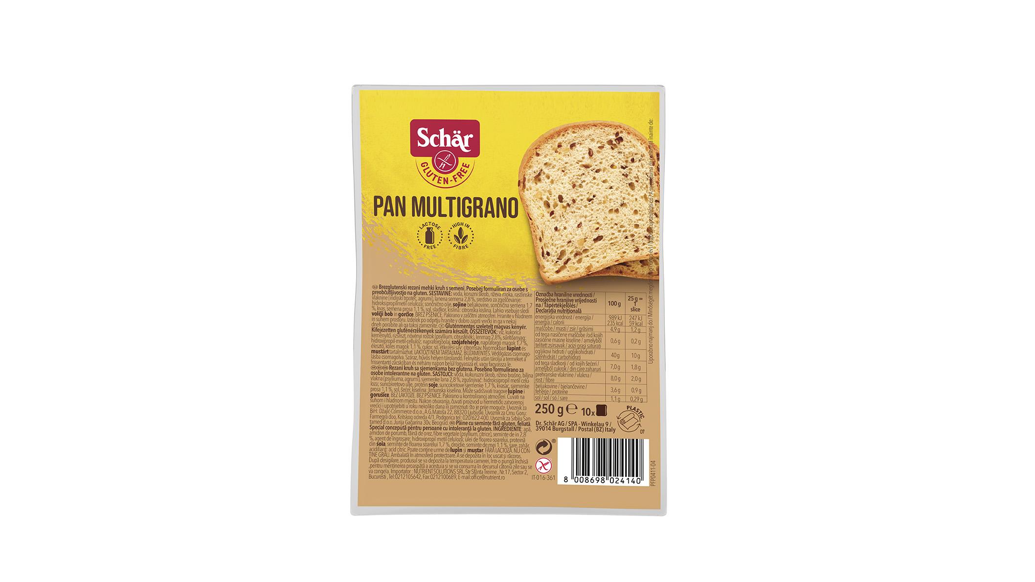 Brezglutenski beli kruh s semeni – Pan Multigrano