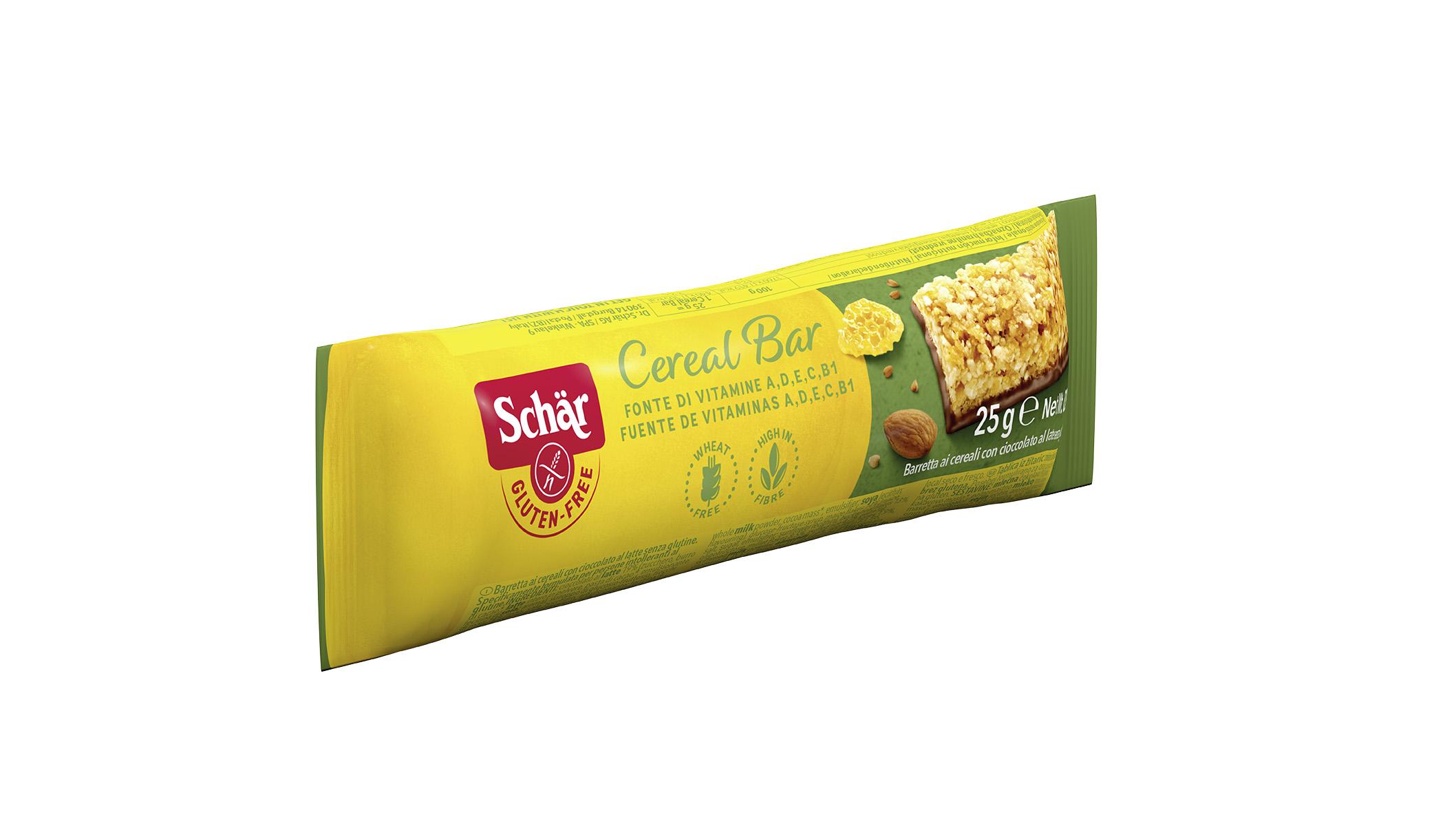 Brezglutenska žitna ploščica s čokolado – Cereal Bar