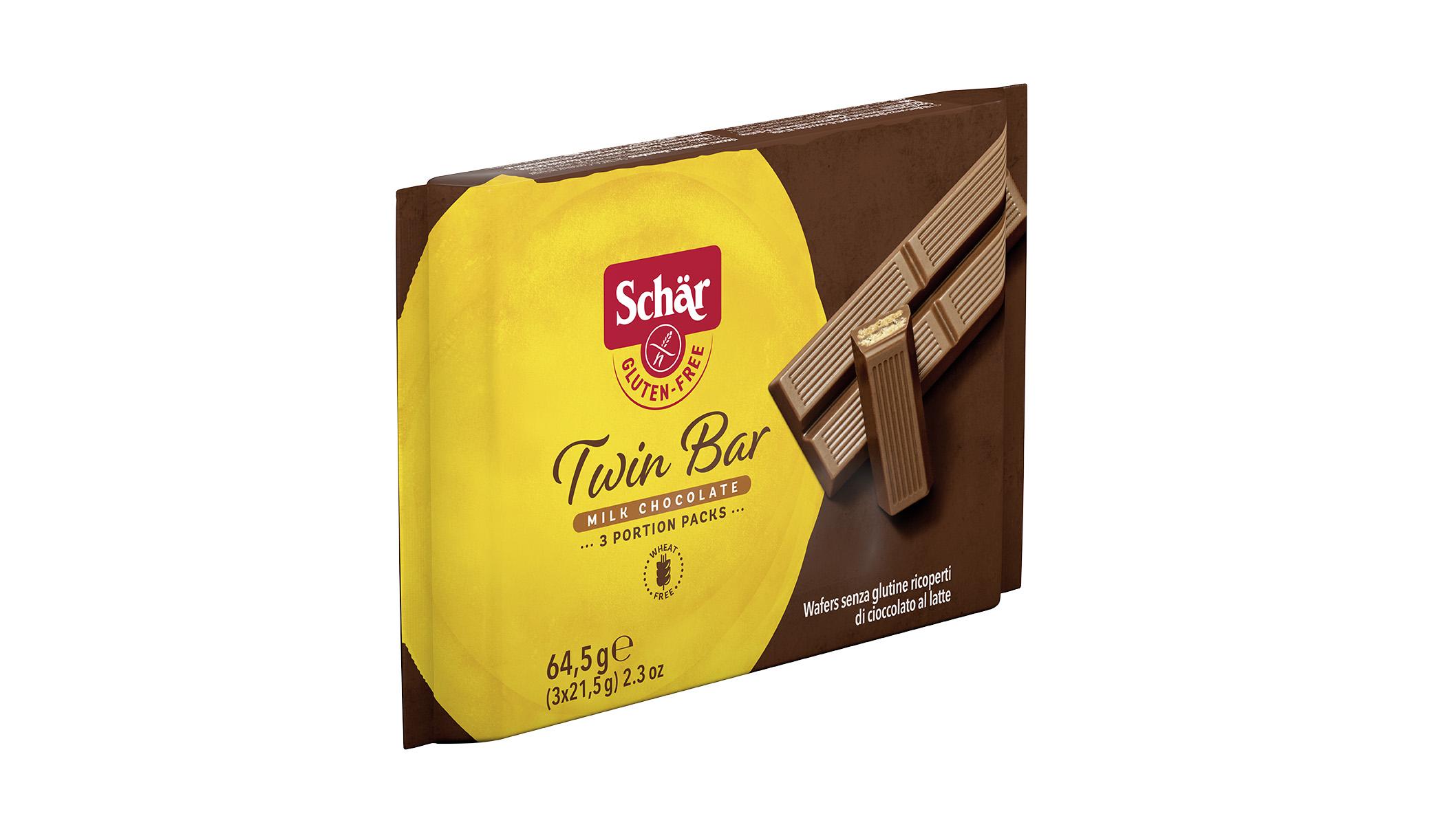 Brezglutenska čokoladica – Twin Bar