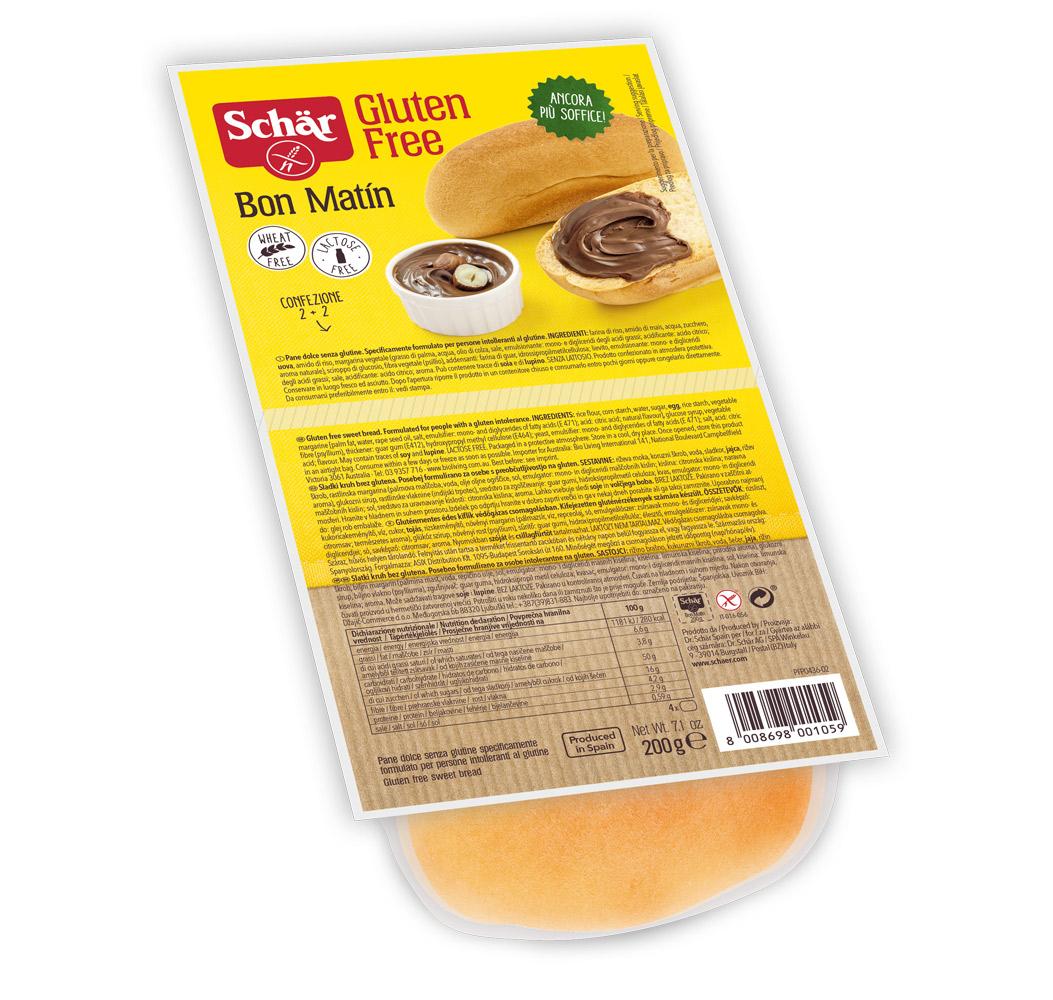 Brezglutenski sladki kruh – Bon Matín