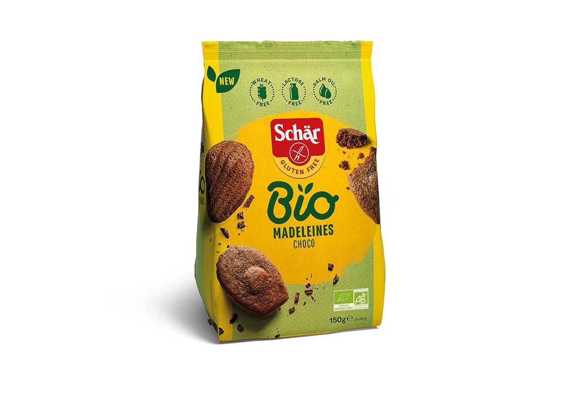 Bio brezglutenske magdalenice s čokolado – Madeleines Choco